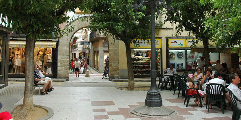 Plaza en Blanes